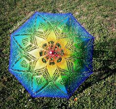 Rainbow Mandala Parasol by babukatorium, via Flickr