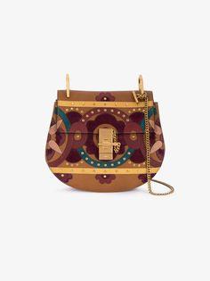 Chloé Drew studded patchwork shoulder bag