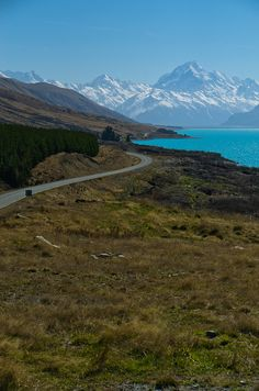 On the road to Mount Cook, Otago, South Island, New Zealand