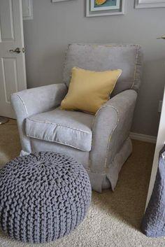 Love the grey foot stool