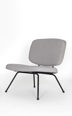 Pierre Paulin; #CM 190 Enameled Metal Easy Chair for Thonet, c1954.