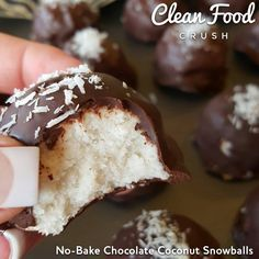 No-Bake Chocolate Coconut Snowballs