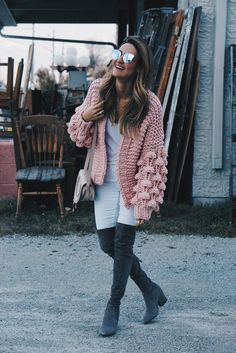 Oversized Sweater + The Best (affordable) OTK Boots | Karina Style Diaries Slouchy Boots, White Denim, Looking Stunning, Skinny Legs, Diaries, Looks Great, Tees, Sweaters, Tee Shirts