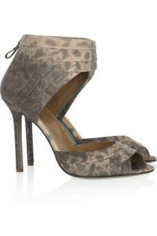 Sergio Rossi - Snake-print leather sandals