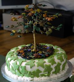 Cute tree cake from a handfasting ceremony.