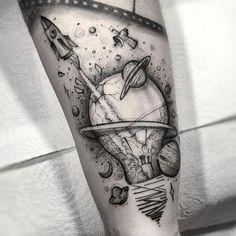 my tatoo future Space Tattoo Sleeve, Forearm Sleeve Tattoos, Body Art Tattoos, Small Tattoos, Tattoos For Guys, Tattoo Ink, Tatoos, Outer Space Tattoos, Tattoos Masculinas