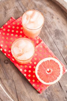 Spicy Grapefruit Margarita - A spice rub rim and a hit of cayenne give this fruity cocktail a bit of an edge. http://www.thelifestyled.com/spicy-grapefruit-margarita/
