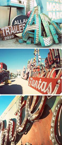 http://www.neonmuseum.org/the-collection/neon-boneyard via lucky pony blog