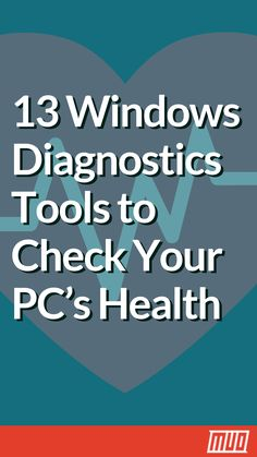 13 Windows Diagnostics Tools to Check Your PC's Health is part of information-technology - Use these computer diagnostic tools to run a PC health check and fix issues Some support Windows 10 diagnostics, specifically Computer Shortcut Keys, Computer Diy, Life Hacks Computer, Computer Projects, Computer Lessons, Computer Basics, Computer Security, Computer Repair, Computer Problems