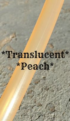 """Translucent *PEACH* Polypro Dance Hoop 5/8"""" or 3/4"""" Collapsible"""