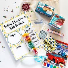 Your little one has officially been promoted! There is a new Big Sister of Big Brother in the house. What better way to celebrate the birth of a new baby than with a special delivery for the Big Brother or Big Sister? Perfect for the hospital, as a gift or for when baby comes home.
