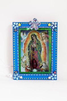 Virgen Lady of Guadalupe lamp box / Mexican folk