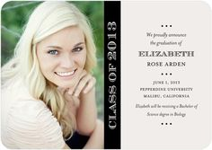 Graduation Announcements - Proudly Announce by Tiny Prints Pepperdine University, College Graduation Announcements, High School Graduation, Graduation Ideas, Girls Time, Tiny Prints, Unique Invitations, Grad Parties, Custom Cards