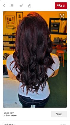 Plum with dark burgundy hair color