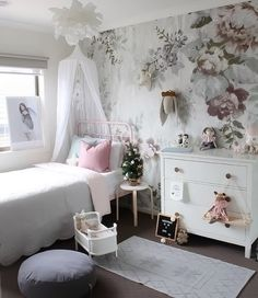 A gorgeous little girl's room by @houseofharvee, Rosaline doll bed available at www.istome.co.uk