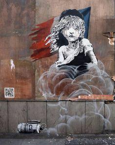 'Les Miserables' street art by Banksy addresses plight of refugees in France. Arte Zebra, Zebra Kunst, Zebra Art, Banksy Mural, Banksy Artwork, Banksy Canvas, Street Art Banksy, Les Miserables, Street Artists