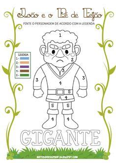 Atividades para relacionar números a cores e colorir os personagens da história.                 Imagens  LittleRed's ClipArt