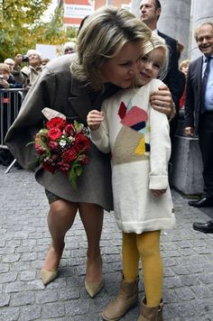 Queen Mathilde visited the exhibition of the 'Search of Utopia' at the M - Museum on Oct  27, 2016 in Leuven