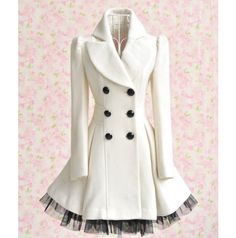 White Winter Pea Coat Dress -  This is stunning, I'm thinking Christmas party