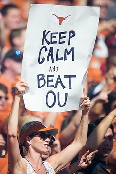 """Keep calm and beat OU"""