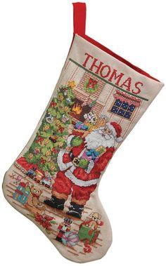 Classic Santa Stocking Counted Cross Stitch Kit