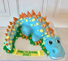 Children's Birthday Cakes that are unique and delicious! Dinosaur Birthday Cake by 3 Sweet Girls Cakery! Related posts: Children's Birthday Cakes – JK Cake Designs 24 Adorable Children's Birthday Cakes cat in the hat birthday cakes Dinasour Birthday Cake, Toddler Birthday Cakes, Baby Birthday Cakes, Dinosaur Birthday Party, Dinasour Cake, Birthday Ideas, 4th Birthday, Dinosaur Cakes For Boys, Dino Cake