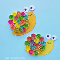 Make these adorable little quilled snails with your kiddos! List of Supplies: Colored craft paper Paper quilling strips Scissors Pencil Craft glue Slotted quilling tool Marker pen Printable Snail PDF with Instructions from Crafty Morning! Diy Crafts For Kids Easy, Animal Crafts For Kids, Summer Crafts For Kids, Kids Crafts, Art For Kids, Arts And Crafts, Easy Diy, Glue Crafts, Paper Crafts