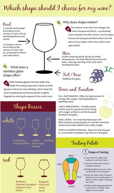 "Which Wine Glass Should You Use?  www.LiquorList.com ""The Marketplace for Adults with Taste!"" @LiquorListcom #LiquorList"