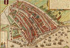 amsterdam 1572 braun en hogenberg oude kaart