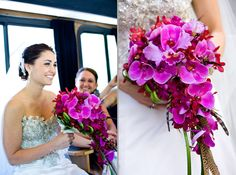 Bride's bouquet in cascading purple #weddings #bouquets #blisschicago