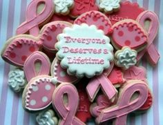 10 Breast Cancer Fundraising Ideas That Work: Designer cookies can earn a lot in a silent auction or bake sale Breast Cancer Party, Breast Cancer Fundraiser, Breast Cancer Walk, Breast Cancer Support, Breast Cancer Survivor, Breast Cancer Awareness, Fundraiser Food, Raising Money For Charity, Survivor Party