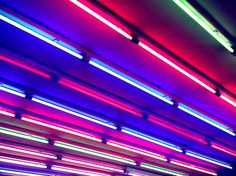 Colorful Neon Tubes, by Ingo Jez