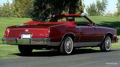1985 Cadillac Eldorado Biarritz Convertable - Car, Cadillac, Old-Timer, Convertible, Red, Eldorado, Biarritz Cadillac Eldorado, Cadillac Ct6, General Motors, Detroit, Convertible, Black Muscle Men, Michigan, 1960s Cars, Us Cars