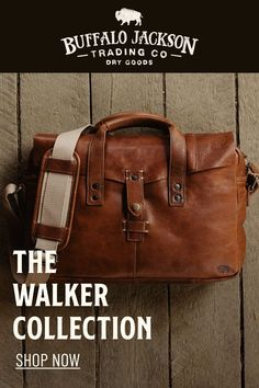 These premium full grain brown leather bags are handcrafted for a lifetime of business, luxury, adventure, and more. The clean silhouette says classic professional. The lightweight construction offers function and ease. Collection options include briefcase bag, messenger bag, pilot bag, and weekend bag. Great gift ideas! Men's Leather, Vintage Leather, Leather Satchel, Brown Leather, Best Gifts For Men, Great Gifts, Waxed Canvas Bag, Rugged Men, Briefcase