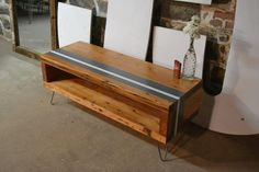 Salvaged Floor Beam Coffee Table W/Custom by RecycledBrooklyn, $365.00...Gorgeous