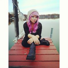 Feeling lovely. @lush_wigs #lushwigs #berryswirl #pinkhair #outdoors #fall #cheekpiercings #girlwithpiercings by kathrynimagin