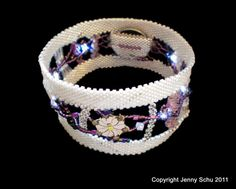 Beaded Bangle with Sparkle by Jenny Schu