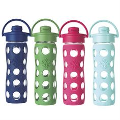 Glass Water Bottle with Flip Top, 16 oz Midnight blue. <3!!!!