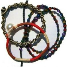 Friendship bracelets are back and bigger than ever, and here are a whole stack of cool bracelets to make with string, thread, cord, or rope. You don't need to drop hundreds of dollars on the latest bracelets to get that trendy layered look -- you...