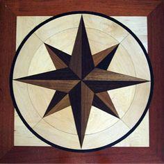 star inlay wood floor