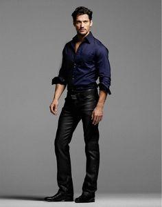 David... in leather... Gah!