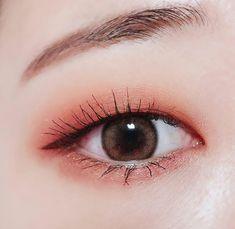 Monolid Eyes, Monolid Makeup, Red Eye Makeup, Asian Eye Makeup, Beauty Makeup, Kawaii Makeup, Cute Makeup, Pretty Makeup, Korean Makeup Look