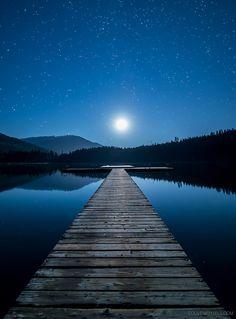 Moonlight Dock, Whistler, British Columbia, Canada it's so gorgeous! Beautiful Moon, Beautiful World, Beautiful Places, Beautiful Pictures, Amazing Photos, Amazing Places, Whistler, Night Photography, Image Photography