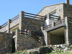Stone sea view house near Elounda, Crete, Greece.