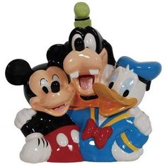 Walt Disney's Best Friends-Mickey Mouse, Goofy & Donald Duck Cookie Jar by Westland Giftware