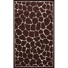 Alexa Playtime Giraffe Brown Kids Rug (4'5 x 6'9)