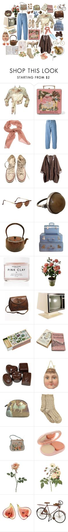 """""""Periphery"""" by powerjazz ❤ liked on Polyvore featuring Hermès, Olympia Le-Tan, Salvatore Ferragamo, Société Anonyme, Converse, Retrò, Herbivore, INDIE HAIR, Dollydagger and Boohoo"""