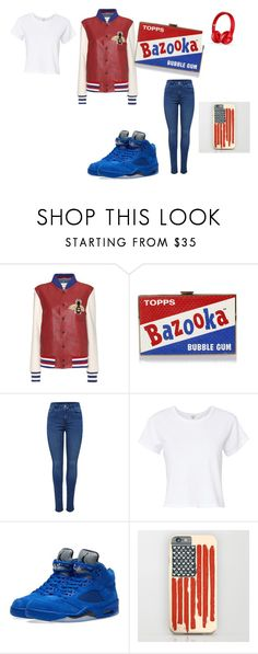 """""""Red white and blue"""" by dreimy ❤ liked on Polyvore featuring Gucci, Anya Hindmarch, RE/DONE, NIKE and Beats by Dr. Dre"""