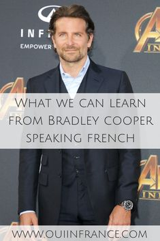 He's a great actor and easy on the eyes but there are French language learning tips we can pick up too. Here's what we can learn from Bradley Cooper speaking French. Learn French Fast, How To Speak French, French Language Learning, Learn A New Language, Bradley Cooper French, Lady Gaga News, French Flashcards, Youtube Kanal, French Resources