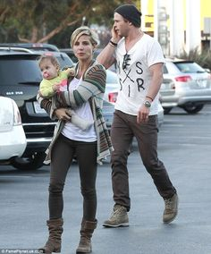 Chris Hemsworth and his wife Elsa Pataky took their daughter India grocery shopping at Whole Foods in Venice, California on Tuesday 02/04/13